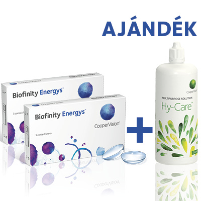 Biofinity Energys (2*3 db) + Hy-Care (360 ml)